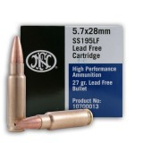 FNH 5.7x28mm 27 Grain JHP - 50 Rounds