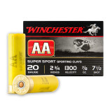 "Winchester AA Sporting Clays 20 Gauge 2-3/4"" 7/8 oz. #7-1/2 – 25 Rounds"