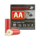 "Winchester AA Light Target 12 Gauge 2-3/4"" 1-1/8 oz. #8 - 250 Rounds"