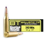 Nosler 243 Win 90 Grain Ballistic Tip Hunting - 20 Rounds