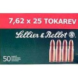 Sellier & Bellot 7.62x25mm Tokarev 85 Grain FMJ  - 50 Rounds