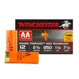 "Winchester AA Orange TrAAcker 3 Dram 12 Gauge 2 3/4"" 1-1/8 oz. #7-1/2 – 250 Rounds"