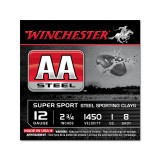 "Winchester AA Steel Sporting Clay 12 Gauge 2-3/4"" 1 oz. #8 – 25 Rounds"