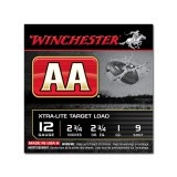 "Winchester AA Light Target 12 Gauge 2-3/4"" 1 oz. #9 – 25 Rounds"