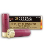 "Federal Tactical LE 12 Gauge 2-3/4"" 00 Buck 9 Pellets FliteControl Wad - 250 Rounds"