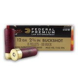 """Federal Tactical LE with FliteControl Wad 12 Gauge 2 3/4"""" 00 Buck 8 Pellets - 250 Rounds"""