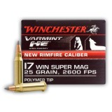 Winchester Varming HE 17 Win Super Mag 25 Grain Polymer Tip - 50 Rounds