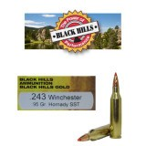Black Hills Gold 243 95 Grain SST Polymer Tip - 20 Rounds
