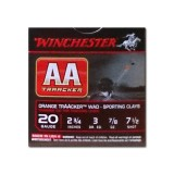 "Winchester AA TrAAcker Orange Wad 20 Gauge 2-3/4"" 7/8 oz. #7-1/2 – 25 Rounds"