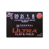"""Federal Ultra Clay & Field 20 Gauge 2-3/4"""" 1 oz. #8 – 250 Rounds"""