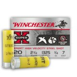 "Winchester Super-X 20 Gauge 2-3/4"" 3/4 oz. #7 Steel Shot - 25 Rounds"