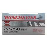Winchester Super X 22-250 Rem 55 Grain SP - 20 Rounds
