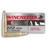 Winchester Super-X 222 Remington 50 Grain JSP – 20 Rounds