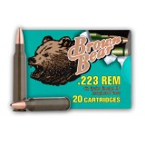 Brown Bear 223 Rem 62 Grain HP - 20 Rounds