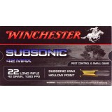 Winchester Subsonic Max 22 LR 42 Grain LHP – 50 Rounds