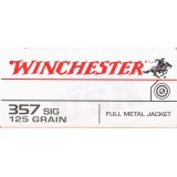Winchester 357 Sig 125 Grain FMJ – 50 Rounds