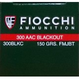 Fiocchi 300 AAC Blackout 150 Grain FMJ-BT – 500 Rounds