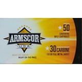 Armscor 30 Carbine 110 Grain FMJ - 50 Rounds