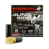 "Winchester Blind Side 12 Gauge 2-3/4"" 1-1/4 oz. #5 Hex Steel Shot – 25 Rounds"