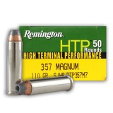 Remington HTP 357 Mag 110 Grain SJHP - 50 Rounds