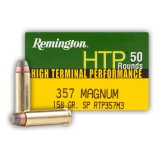 Remington HTP 357 Mag 158 Grain Soft Point - 50 Rounds