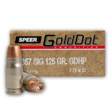 Speer Gold Dot 357 Sig 125 Grain HP - 50 Rounds