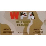 Wolf Military Classic 380 Auto 94 Grain FMJ - 50 Rounds