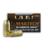 Magtech Guardian Gold +P 380 Auto 85 Grain JHP – 20 Rounds