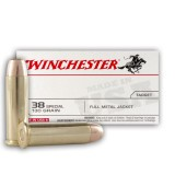 Winchester USA 38 Special 130 Grain FMJ - 500 Rounds