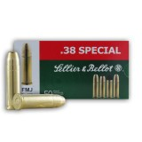 Sellier & Bellot 38 Special 158 Grain FMJ - 50 Rounds