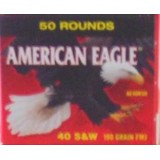 Federal American Eagle 40 S&W 180 Grain FMJ – 50 Rounds