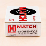 Hornady 6.5 Creedmoor 140 Grain ELD Match – 200 Rounds