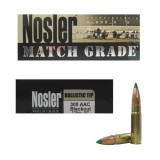 Nosler Match Grade 300 AAC Blackout 125 Grain Ballistic Tip - 20 Rounds