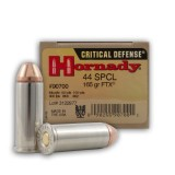 Hornady Critical Defense 44 Special 165 Grain FTX - 20 Rounds