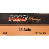 PMC Bronze 45 ACP 230 Grains FMJ – 50 Rounds