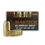 Magtech Guardian Gold  45 GAP 185 Grain JHP – 20 Rounds