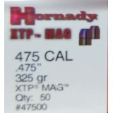 Hornady .475 Diameter Bullets - 325 Grain XTP HP - 50 Count