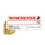 Winchester USA 45 ACP 185 Grain FMJ - 50 Rounds