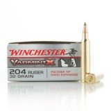 Winchester Varmint-X 204 Ruger 32 Grain Polymer Tipped – 20 Rounds