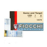 "Fiocchi Game and Target 12 Gauge 2-3/4"" 1 oz. #8 - 25 Rounds"