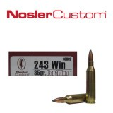 NoslerCustom 243 85 Grain Nosler Partition SP - 20 Rounds