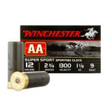 Winchester AA Sporting Clay 12 Gauge 1-1/8 oz. #9 – 250 Rounds