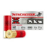 "Winchester High Brass Game 12 Gauge 2-3/4"" 1-1/4 oz. #7-1/2 – 25 Rounds"