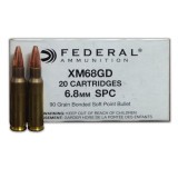 Federal 6.8 Remington SPC 90 Grain Bonded Soft Point - 20 Rounds