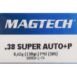 Magtech 38 Super +P 130 Grain FMJ - 50 Rounds
