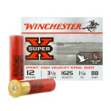 "Winchester Super-X High Velocity 12 Gauge 3-1/2"" 1-1/4 oz. #BB – 25 Rounds"