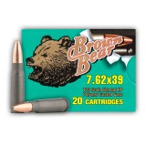 Brown Bear 7.62x39mm 123 Grain HP Polymer Coated - 500 Rounds