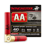 """Winchester AA Sporting Clays 410 Gauge 2-1/2"""" 1/2 oz. #8 – 25 Rounds"""