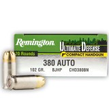 Remington Ultimate Defense 380 Auto 102 Grain BJHP - 20 Rounds