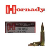 Hornady Superformance Varmint 222 Rem 35 Grain NTX PT – 20 Rounds